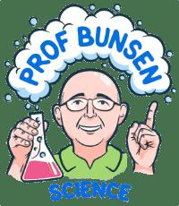 Prof Bunsen Science Logo